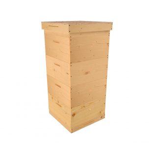 Улей Рута 10 рамочный, 4 корпуса, 440x510x250 мм, сосна